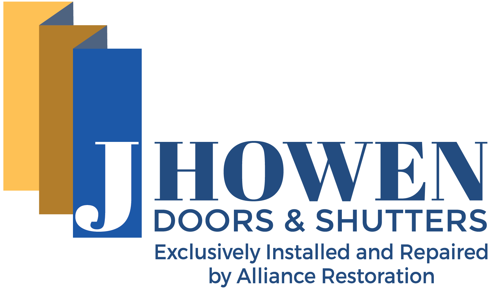 J Howen Doors & Shutters, Inc. Exclusively Installed and repaired by Alliance Restoration